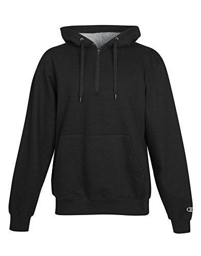 Used, Champion Cotton Max Adult 1/4 Zip Hood, S185, XS, Black for sale  Delivered anywhere in Canada