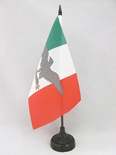 AZ FLAG Bandera de Mesa de la REPÚBLICA Social Italiana 21x14cm - BANDERINA de DESPACHO Italia FASCISTA - RSI 14 x 21 cm: Amazon.es: Hogar