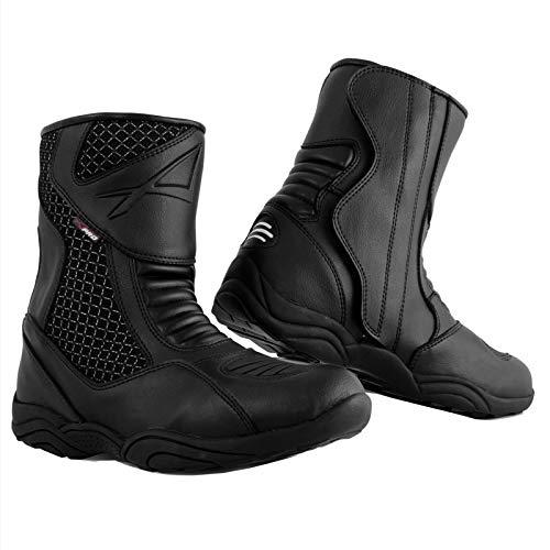 A-Pro Niedrige Stiefel Motorradstiefel Wasserdicht Schuhe Sport Low Boots Schwarz 46
