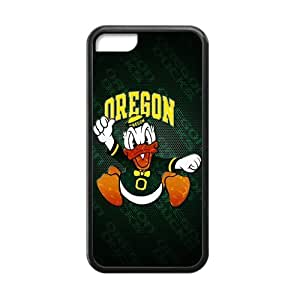 Generic Customize Unique Otterbox--NCAA Oregon Ducks Team Logo Plastic and TPU Black and White Case Cover for iphone 4 4s