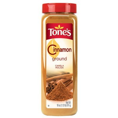 Tone's Ground Cinnamon - 18 oz. shaker (2 Pack)