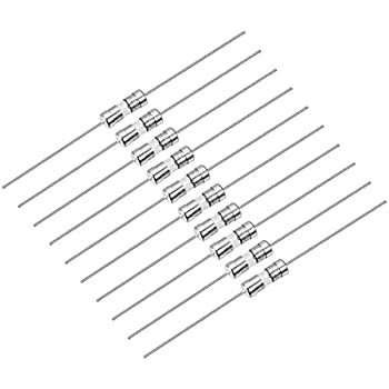 10Pcs 3.6mm x 10mm Slow Blow 3.6 x 10mm Axial Leads Tube Glass Fuse 250V 8A T8A