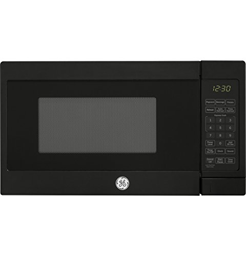GE Appliances JES1072DMBB 0.7CUFT Black Countertop Microwave, 0.7 Cu Ft