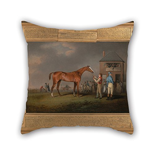 Throw Pillow Covers Of Oil Painting Henry Bernard Chalon - Quiz, After His Last Race At Newmarket For Bf Christmas Wife Drawing Room Teens Boys Bar 18 X 18 Inches / 45 By 45 Cm(twin Sides) -