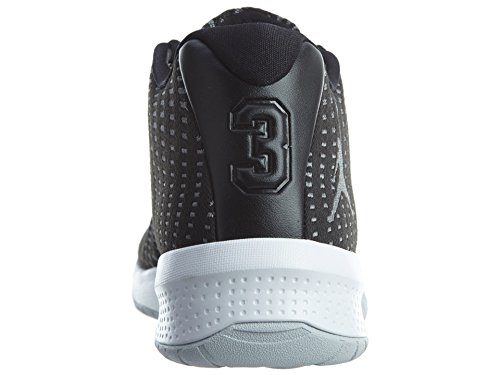Jordanien Nike Mens B.fly Basket Sko Svart / Vit / Mörkgrå