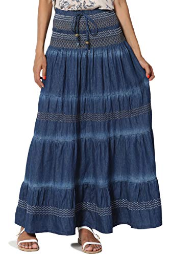 Tiered Strapless Smocked Dress - 3