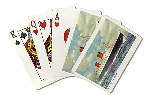 View of Cunard Ocean Liner Queen Elizabeth (Playing Card Deck - 52 Card Poker Size with (Queen Elizabeth Bridge)