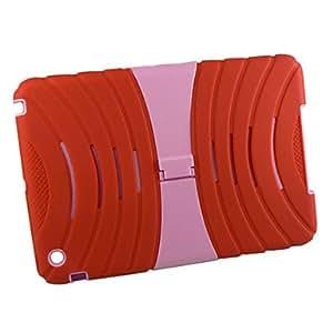 conseguir Silicio y plástico con el caso del robot del soporte para iPad mini , Fucsia