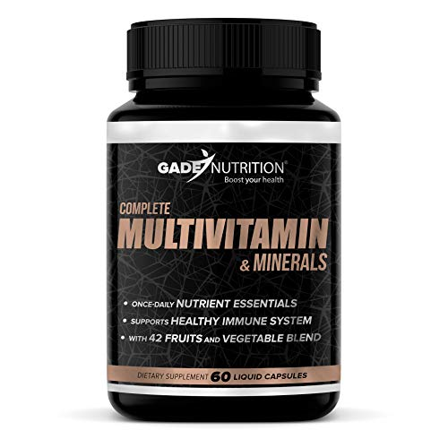 Complete Multivitamin & Minerals for Women and Men – Supplement for Energy, General Health – Non-GMO – Packed with More Than 25 Vitamins & Essential Minerals & 42 Fruits and Vegetable Blend.