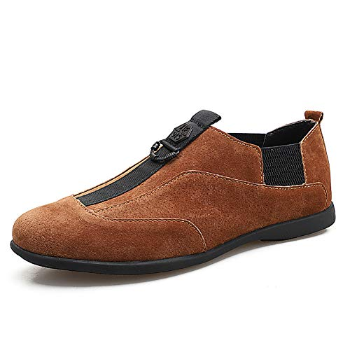 Driving In amp; Mocassini Brown Grigio Casual Pelle Uomo Da Shoes Mocassini Mocassini On Marrone Slip Nero v8TqwS5nx