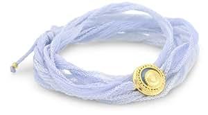 Satya Jewelry Celestial Arm Yourself Sun Sky Blue Wrap Bracelet