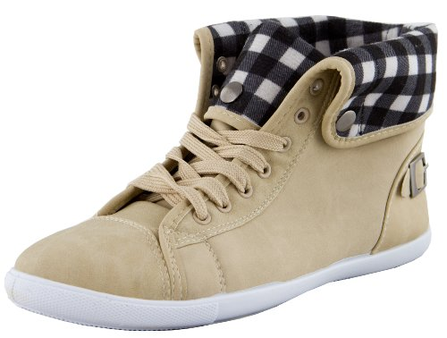 Tronchetti Beige Fibbia Avamia Con Donna Street Sneaker Sccq04X
