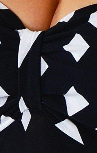 Made Dress Women Funfash USA in Size Cocktail Plus Black Diamond White Slimming Black Erq0xw8qR