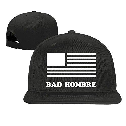 Bad Hombre Unisex Adjustment Baseball Hip Hop Cap Hat Black (5 colors)