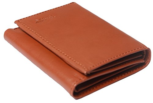 RnS Star Men's Leather Trifold Wallet - Top Quality Genuine Leather