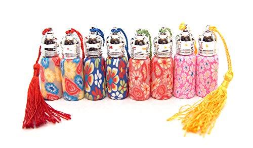 Essential Glass Bottles 8Pcs Mini Roller Bottles for Essential Oils or Perfume 3ml ()