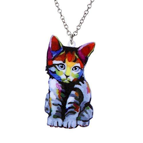Fashion Animal Necklace Pet Cat Dragon Pig Bird Wolf Fish Dog Necklace Women Bohemia Jewelry Pendant Ethnic Long Necklace -