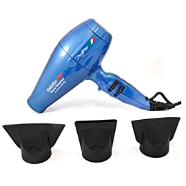 - 41BxFX5zMVL - Nano Titanium Portofino 2000 Watts Full-Size Hair Dryer Bonus 3 concentrator nozzles and diffuser included (Blue)