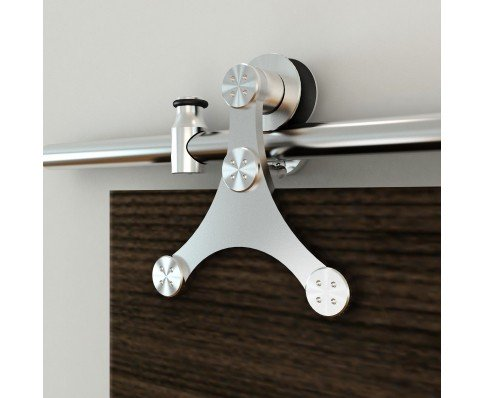 Quiet Glide Stainless Steel Triangle European Style Face Mount Hardware Kit by Stainless Glide (Image #3)