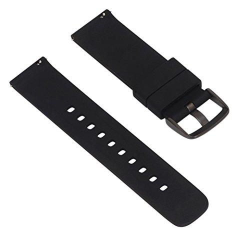 Coohole Replacement Silicagel Soft Band Strap Bracelet For Garmin Fenix Chronos GPS Watch (Chrono Dial)