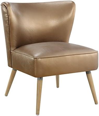 OSP Home Furnishings Amity Mid-Century Modern Wooden Leg Side Chair