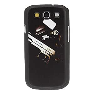 Gun and Badge Pattern Hard Case for Samsung Galaxy S3 I9300