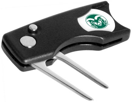Colorado State Rams Spring Action Divot Tool with Golf Ball Marker (Set of 2) by LinksWalker