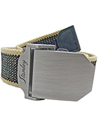 Belt Canvas Web With Free Gift Bag, Adjust to 60 Inches, Tight Slider Buckle