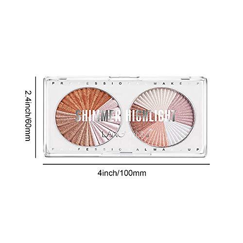 Sumeitang Highlighter Palette 8 Colors Highlighter Makeup Palette Glow Bronzer High-Gloss Powder Enhanced Face Silhouette Contour illuminator makeup palette