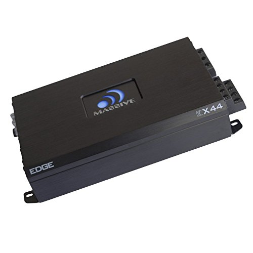 Massive Audio EX44 - Car Audio 800 Watt, 200w x 4 RMS, Nano Edge Series, 4 Channel Car Amplifier, Bass Boost