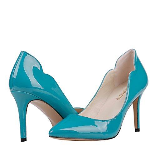 MERUMOTE - tacón fino alto mujer Blau-Lackleder