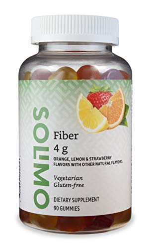 Amazon Brand – Solimo Fiber 4g – Digestive Health, Supports Regularity – 90 Gummies (2 Gummies per Serving)