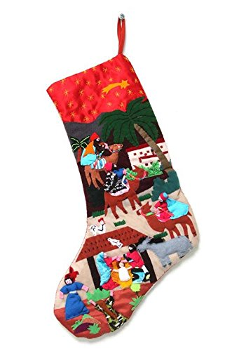 - NOVICA Religious Cotton Christmas Holiday Stocking, Multicolor, The Three Kings'