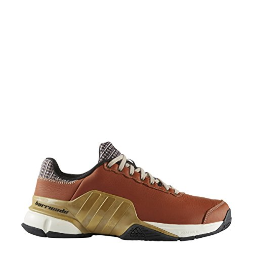 adidas Performance Men's Barricade 2016 Mustachio Tennis Shoe Craft Ochre Metallic Gold/Bliss 11 M US