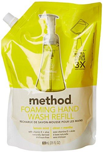 Method Naturally Derived Foaming Hand Wash Refill, Lemon Mint, 28 Ounce