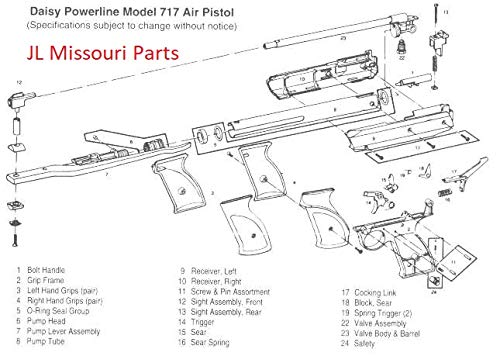 Grizzly Daisy Youthline 717 747 777 840 990 Safety Button Spring BB Gun Air  Rifle Steel Part by JL Missouri Parts