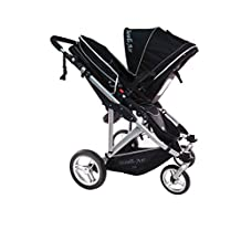 StrollAir My Duo Twin/Double Stroller, Black
