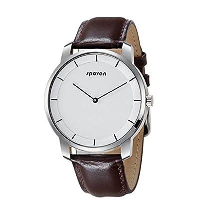 Bluetooth Smart relojes – Spovan para hombre relojes primera marca Luxury Cuarzo Reloj Inteligente Bluetooth Casual