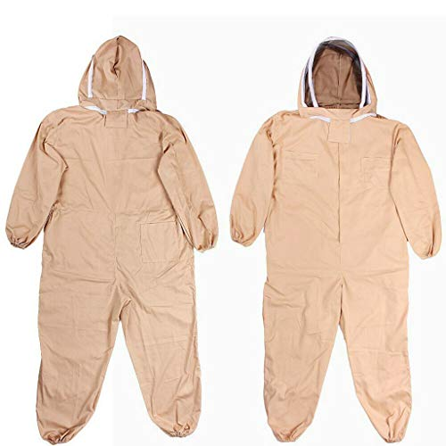Dergo ☀Bee Keeping Suit Breathable Half Body Anti-Bee Clothes with Cap Beekeeping Protective Suit Tool (XL)