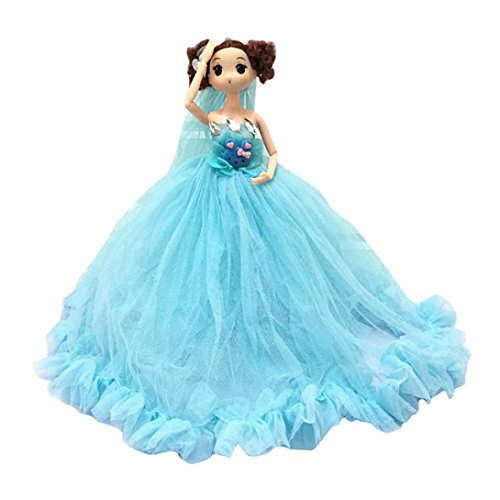 Gbell Kawaii 12 inch Wedding Party Dress Princess Doll - Soft Body Pendant Doll Favor Birthday for Little Girls (Wedding Rings Mint Tin)