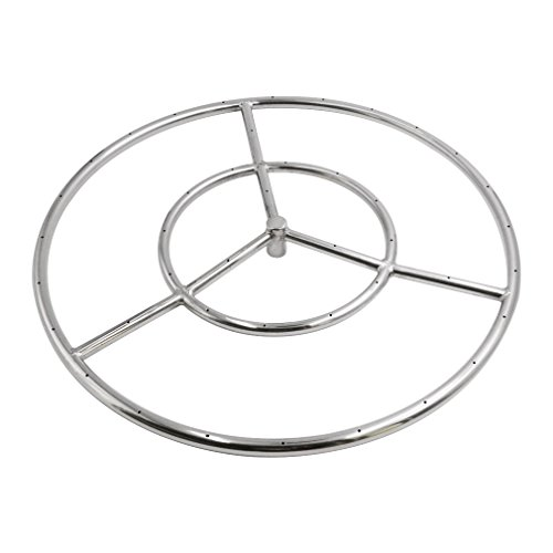 Ring Fire Pit Propane - Skyflame 18-Inch Round Fire Pit Burner Ring, 304 Stainless Steel