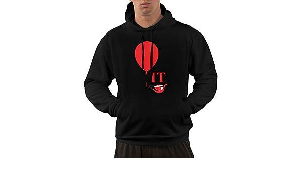UJHSFGfcaf Stephen Kings It Logo Fashion Mens Hoodie for All Men Black