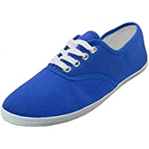 EasySteps Women's Canvas Lace Up Shoes with Padded Insole, Royal Blue, US Women's 10 B(M) US