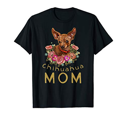 Colorful Gold Chihuahua Mom T-shirt