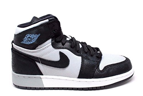 Jordan Retro 1 High Black/Aluminum-Wolf Grey-White (Big Kid) (4 M US Big Kid) by NIKE