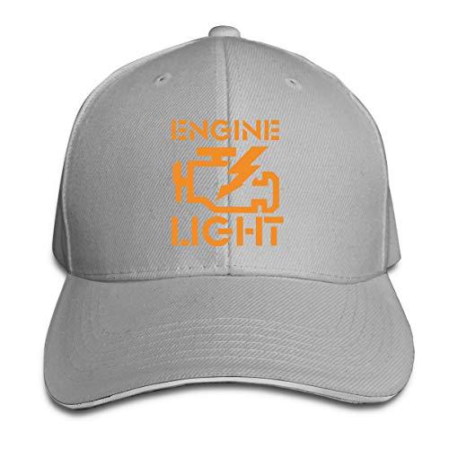 VANMASS Unisex Baseball Caps Engine Light Funny JDM Car Peake Hats Adjustable Gray (Vw Jetta Gas Cap Won T Open)
