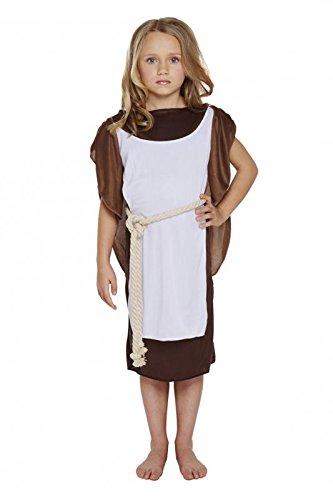 Henbrandt Disfraz de niña vikinga de Talla Mediana para niños de 7 ...