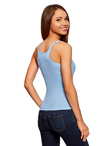 Nadadora Azul Oodji Mujer Collection Camiseta 7000n qxqt8HI