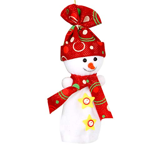 YaptheS Christmas Eve Cute Wrapping Snowman Shaped Candy Cookie Apple Bags Christmas Decoration Supplies-Red Christmas Gift by YaptheS (Image #3)