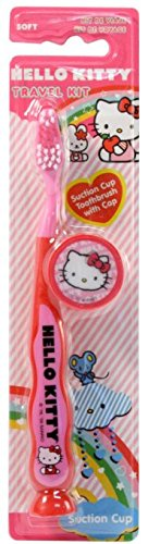 Hello Kitty Travel Kit Toothbrush 3 Pack Soft